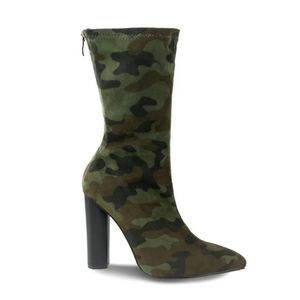 NWOB Olivia Miller Camo Ankle Boots